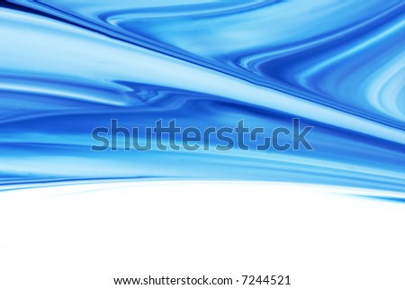 Beautiful blue abstract - stock photo