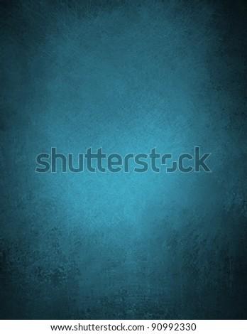 Beautiful Blue Background Or Wallpaper Illustration Design With Elegant Dark Vintage Grunge Texture And