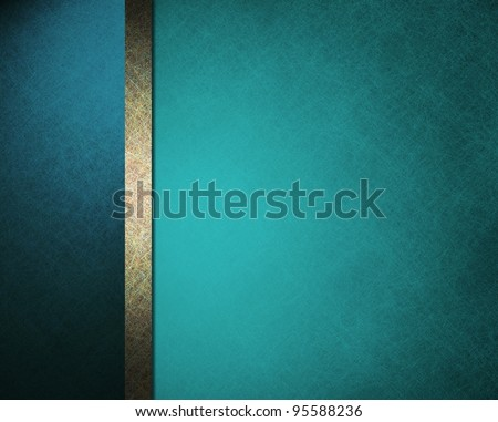 beautiful blue background with brown gold stripe and old faded vintage grunge texture for website layout template or app wallpaper or elegant formal stationary for menu