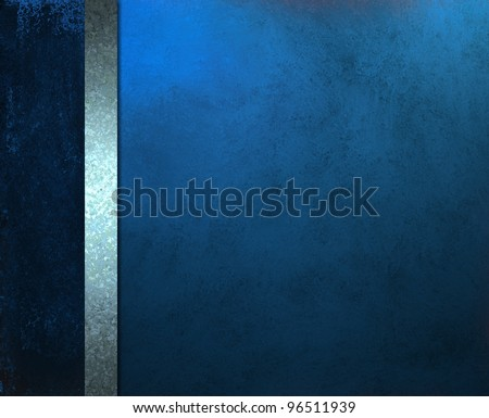 beautiful blue background with elegant formal layout design template for website or menu or brochure