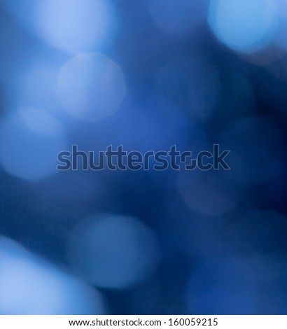 beautiful blue bokeh as background - stock photo