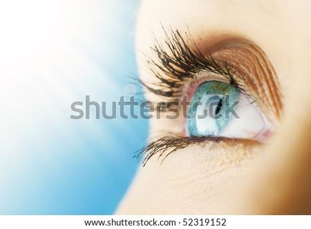 Beautiful Blue Eye - stock photo