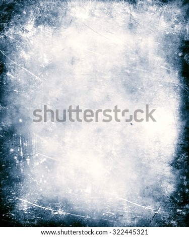 Beautiful Blue Faded Grunge Vintage Scratched Texture Background - stock photo