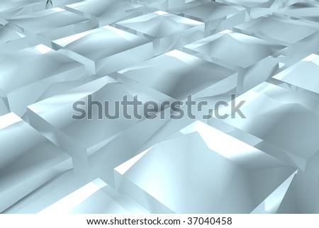 beautiful blue ices in an order - stock photo