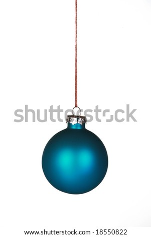 Beautiful blue ornament isolated on white