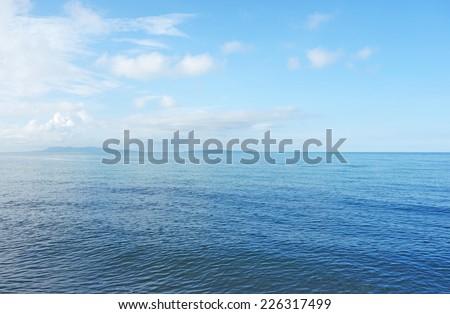 beautiful blue sea - stock photo