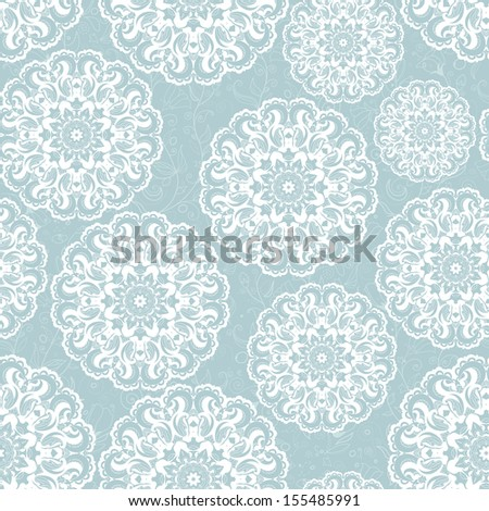 Beautiful blue seamless lace background raster version (vector version is available)