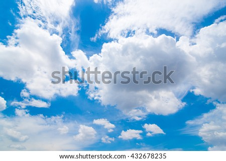 beautiful blue sky and cloudy for background