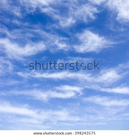 Beautiful blue sky and white clouds  - stock photo