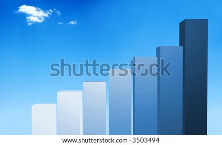 beautiful blue sky illustration with a cloud at the top