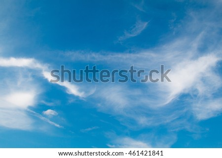beautiful blue sky with cloud
