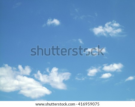 Beautiful blue sky with clouds, background nature