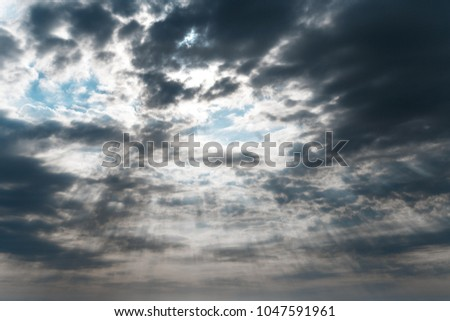 Beautiful blue sky with clouds background. Sky clouds