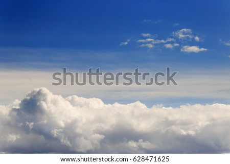 beautiful blue sky with clouds background. Sky with clouds weather nature cloud blue.