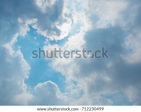 beautiful blue sky with dramatic clouds