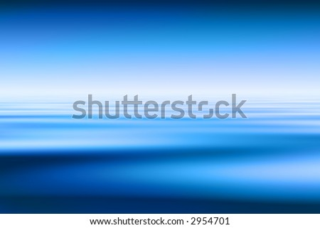 Beautiful Blue Water And Sky Background - stock photo