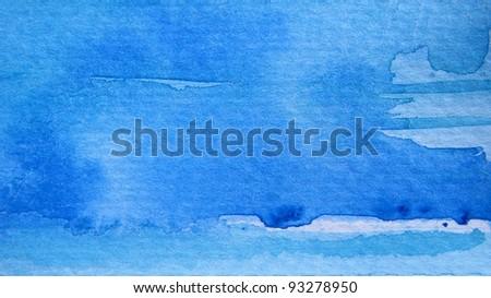 Beautiful Blue Watercolor Background 3 - stock photo