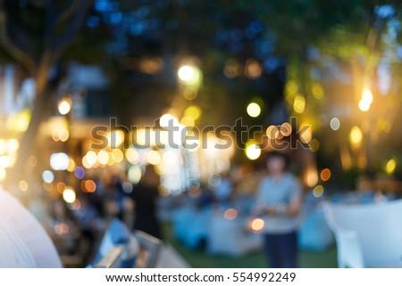 Beautiful Blur Background Bokeh Party In The Garden