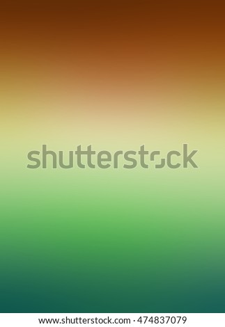 beautiful blurred background with smooth texture and colors of green and rust red orange