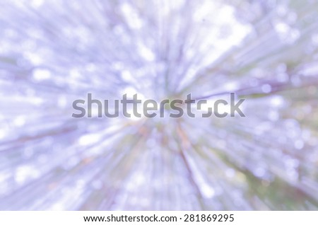 Beautiful bokeh derive from nature blurred use as background