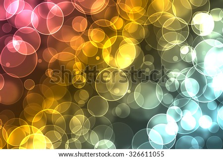 beautiful bokeh on a colorful background