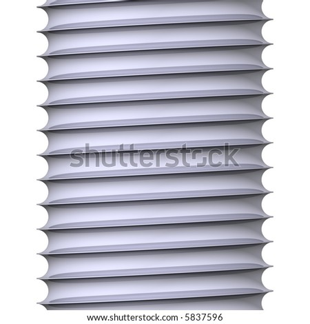 Beautiful bolt threads isolated on white