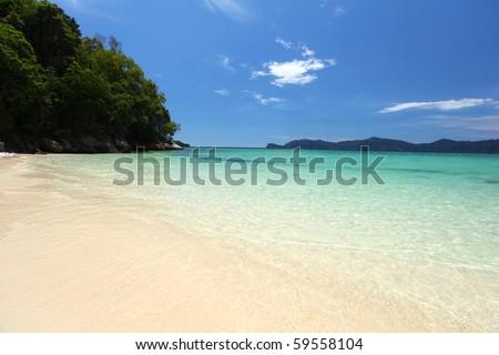 Beautiful Borneo Beach! - stock photo
