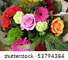 Beautiful bouquet of colorful flowers - stock photo