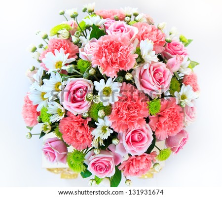 Beautiful bouquet flowers ready big wedding stock photo for Biggest bouquet of flowers