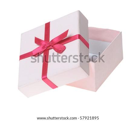 Beautiful box isolated on white background - stock photo