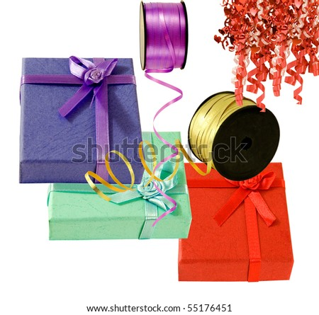 beautiful boxes and ribbons for any occasion - stock photo
