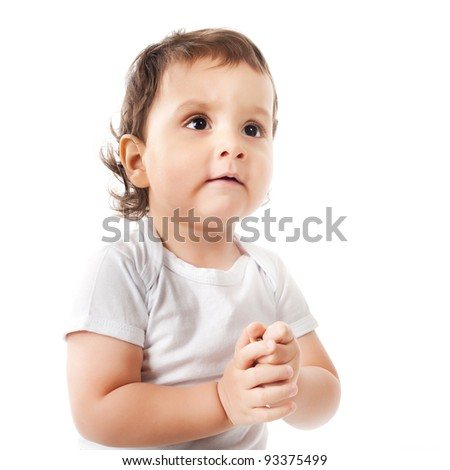 beautiful boy portrait - stock photo