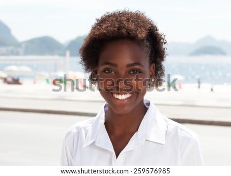 Beautiful brazilian woman at Rio de Janeiro - stock photo