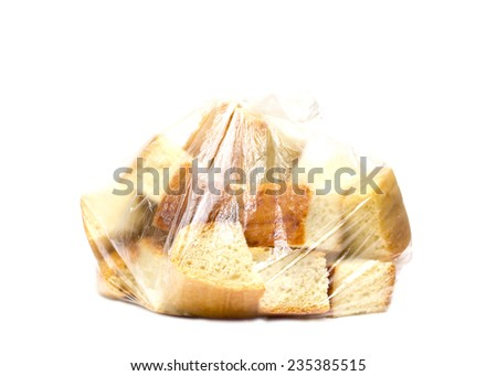 beautiful bread form a square on a white background