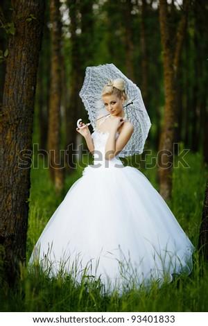 beautiful bride - stock photo