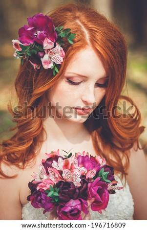 Beautiful Bride.Bride's portrait. - stock photo