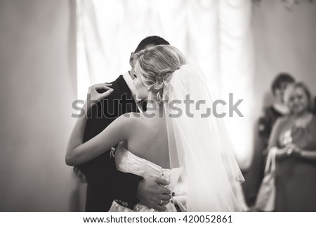 beautiful bride dance - stock photo
