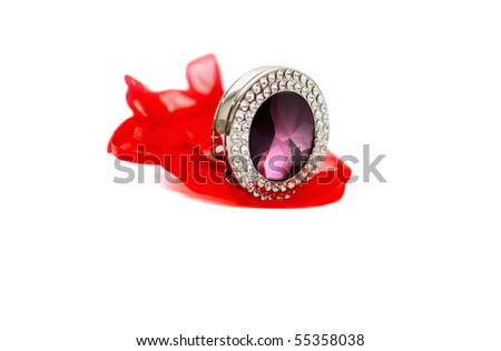 Beautiful bright accessory isolated on white
