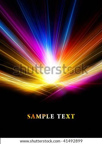 Beautiful bright fractal template - stock photo