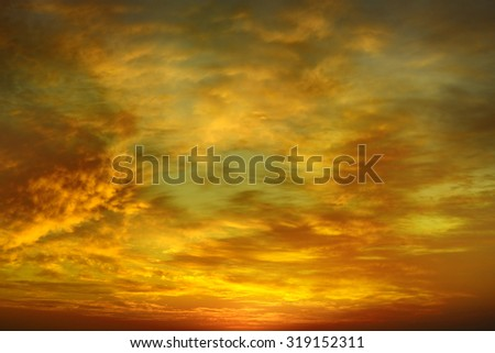 Beautiful bright sunset. Heavenly background. - stock photo
