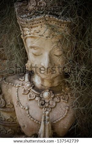 Beautiful Buddha statue in Thailand - stock photo