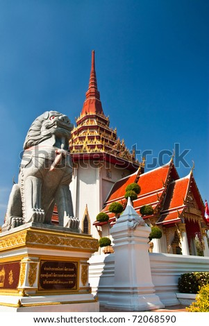 Beautiful buddhist temple in Thailand