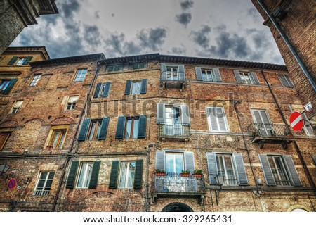 beautiful building in Siena in hdr, italy