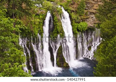 Beautiful burney falls - stock photo