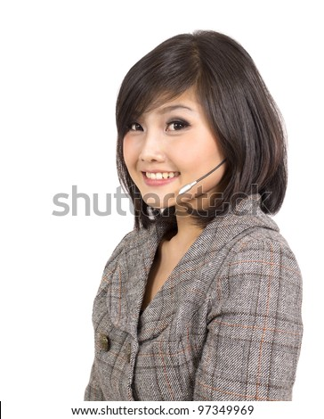 beautiful business customer service woman smiling