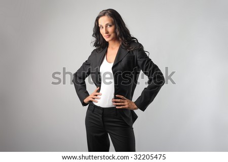 beautiful business woman - stock photo