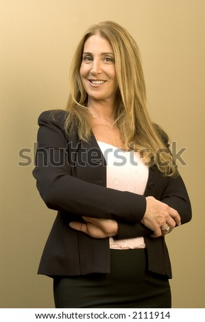 beautiful business woman executive standing