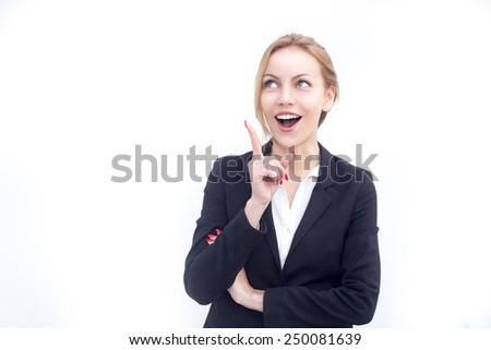 Beautiful business woman having some great idea - stock photo