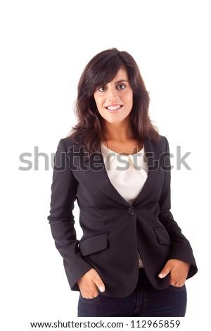 Beautiful business woman posing - stock photo
