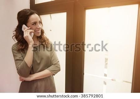 Living Room Man Talking Classic Phone